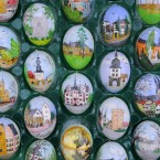 An Easter egg tree has to be the stuff of dreams, although these aren't made out of chocolate. Christa and Volker Kraft decorated their garden in Saalfeld, Germany, with 9,800 Easter eggs strung on trees. (AP Photo/Jens Meyer)