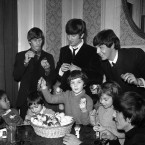 The Beatles provided inspiration for Church of England Children's Society orphans as they painted mop-topped Easter eggs at London's Scala Theatre in England on March 25, 1964 (AP Photo/P.)