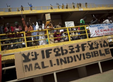 A rally in support of the ruling military junta in Bamako, Mali last weekend.