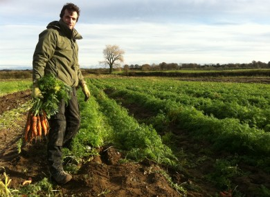 Patrick McGreal harvesting carrots in Co Offaly recently.