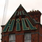 Like a precursor to WordArt, the sign on the gable of The Hill pub in Ranelagh mimics the pitch of the roof.