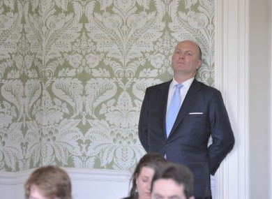 Ah, so relaxing... Declan Ganley at a Libertas press conference