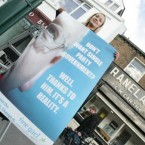 Lucinda Creighton putting up a poster of former Minister for Justice Michael McDowells electoral heartland of Ranelagh, which calls into question his committment to the poster which he put up in the 2002 General Election proclaiming