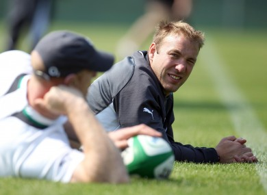 Stephen Ferris sat out training on Friday.
