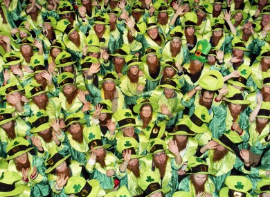 World Record for people dressed as Leprechauns, set in Dublin in November