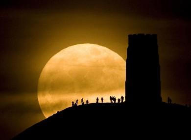 Last year's 'super moon' near Glastonbury, England