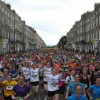 Some of the 40,000 runners who took part last year. Image: Niall Carson/PA Wire.