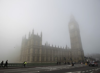 Some MPs are so drunk at work that the Palace of Westminster becomes a haze...