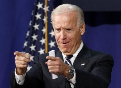 Joe Biden pictured last month