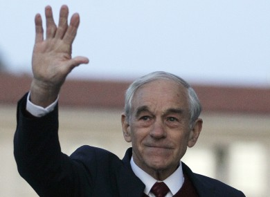 Ron Paul pictured in California last month
