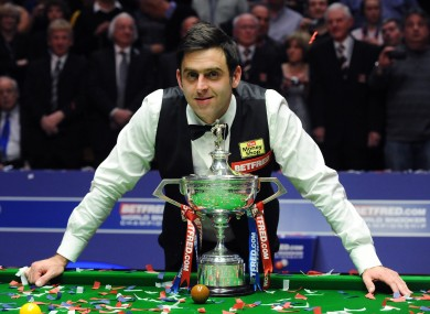 O'Sullivan smiles for the cameras following his victory.