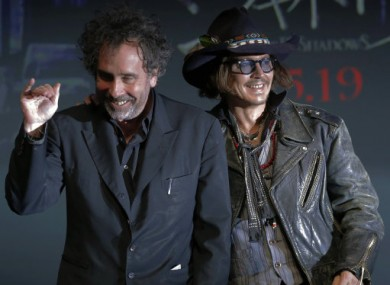 Burton and Depp at yesterday's press event in Tokyo.