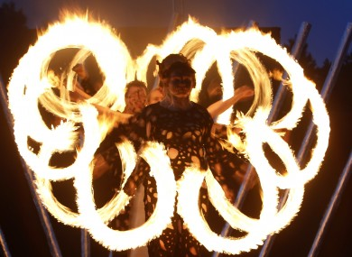 Performers taking part in a two-day Fire Festival in Minsk, Belarus this weekend.