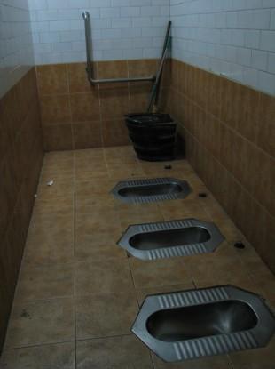 Public toilet in Beijing: can you spot any flies?