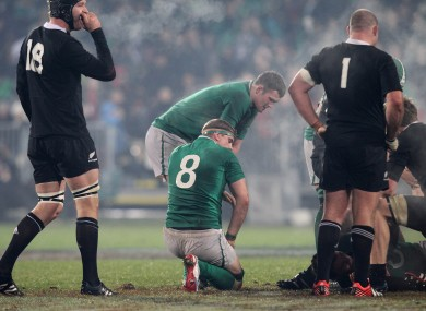 Jamie Heaslip at the final whistle of the second Test.