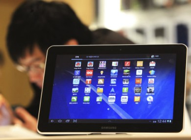 The Galaxy Tab 10.1 on display in Seoul.