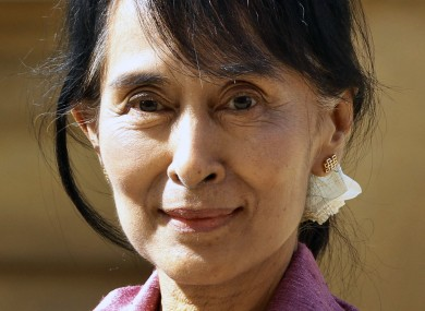 Aung San Suu Kyi, arrives at Oxford University in Oxford, England, earlier this week
