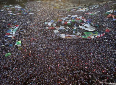 Supporters of Mohammed Morsi in Tahrir Square