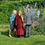 Perusing the herbaceous borders at Clarence House. (Photo by Gareth Cattermole - WPA Pool/Getty Images)