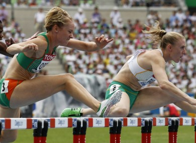 Derval O'Rourke competing at the World Championships in 2011.