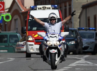 File photo of French police and ambulance services.