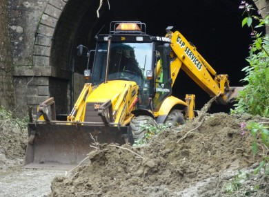 the Beaminster Tunnel where one body has been found in a car which was buried in the tunnel entrance by a landslide