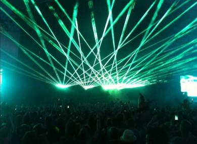Swedish House Mafia perform at Phoenix Park last night.