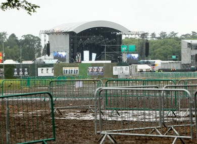 The concert site in the Phoenix Park
