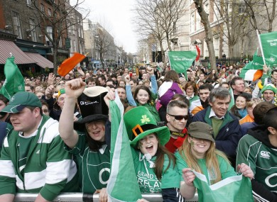 Rugby fans attend a homecoming for the Ireland rugby team after the 2009 Grand Slam win. A similar event had been proposed for Monday to welcome Ireland's Olympians.