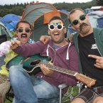 Mitchell O'Gorman, Derek Frisby and Alex Stevensma making beautiful music at EP 2012. (Photo: Tony Kinlan)