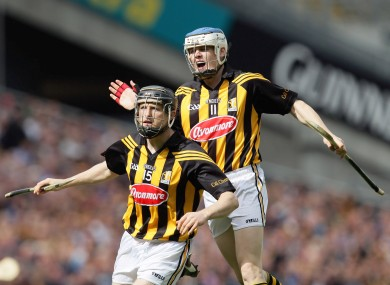 Kilkenny's TJ Reid and Aidan Fogarty celebrate a score.