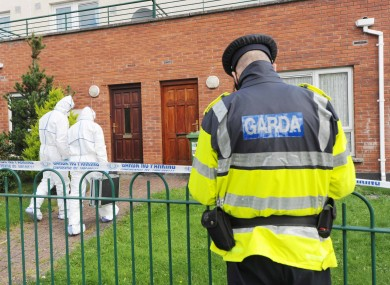 The crime scene in Mulhuddart in west Dublin last week.