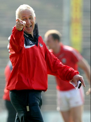 Conor Counihan in jovial mood following the league win over Mayo.