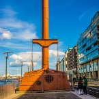 This was designed in 1860 by Offaly-born Bindon Blood Stoney, who invented it so that workmen could work inside it and  underwater on the construction of new quays. Bindon Blood Stoney was dubbed the