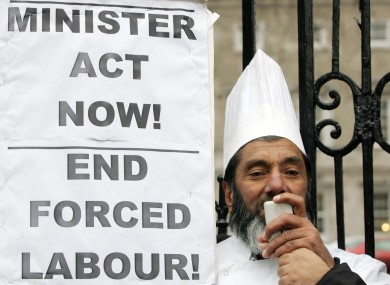 File photo of Muhammad Younis at an MRCI protest