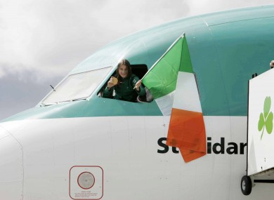 Katie Taylor touches down at Dublin airport