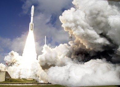 The rocket carrying the Mars rover lifts off in Florida