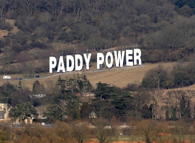 A sign erected in a field beside the Cheltenham race course in 2010.