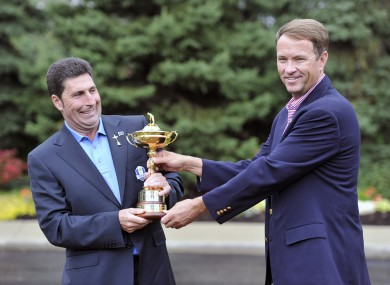 Tug of war for Ryder Cup captains José Maria Olazábal and Davis Love III.