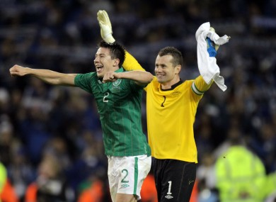 Sean St Ledger was one of the first players to tweet a tribute to Shay Given.