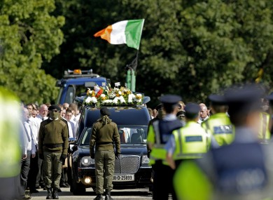 The procession at the funeral of Alan Ryan in Dublin last Saturday