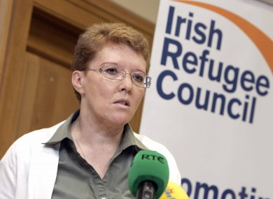 Sue Conlan, CEO Irish Refugee Council. The Irish Refugee Council, at the launch of the report today