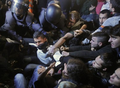 Police clashed with protesters during recent demonstrations against austerity measures