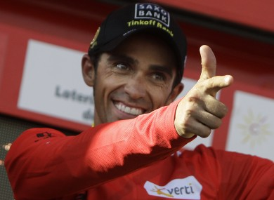 Alberto Contador is included in the nine-man Spanish team.