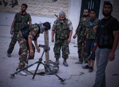 FSA fighers in Aleppo over the weekend.