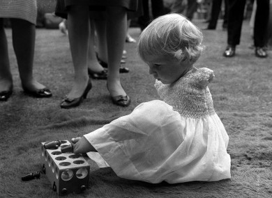 Phillipa Bradbourne, who was born without arms as a result of thalidomide, pictured in London in 1963.