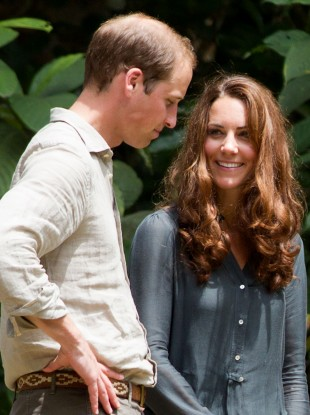 The royal pair pictured yesterday during their visit to the rainforest in the Danum Valley in Borneo