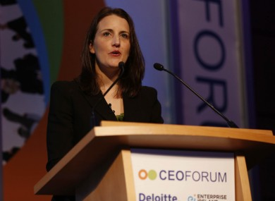 Fidelma McGuirk, MD of Taxback.com speaking at the CEO Forum yesterday.