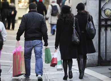 File photo of shoppers on Grafton Street, Dublin.