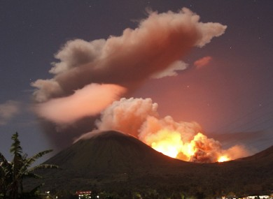 Mount Lokon erupted in July of last year, causing the evacuation of thousands of residents.